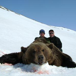 Russel Young hunting brown bears with Kulu Safaris