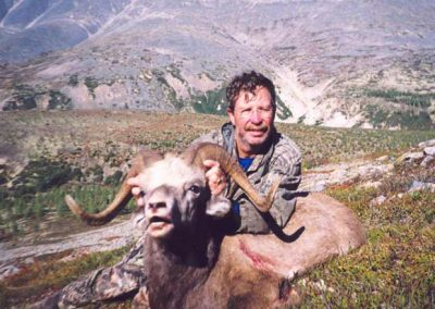 Snow sheep hunting in the mountains of Magadan, Russia