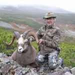 Snow sheep hunting in the mountains of Magadan, Russia with Kulu Safaris