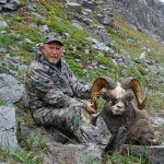 huge snow sheep ram in Russia with Kulu Safaris